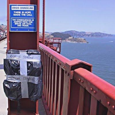Krisetelefon på Golden Gate broen, ude af drift