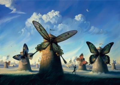 Fauna in La Mancha by Vladimir Kush