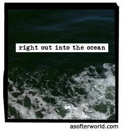 right out into the ocean