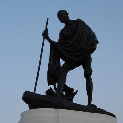 Mahatma Gandhi statue i Chennai