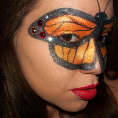 Halloween butterfly facepaint