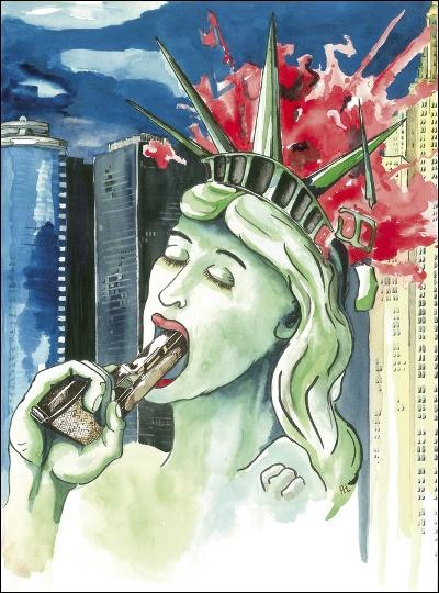 Frihedsgudindens fald - Suicide Statue of Liberty
