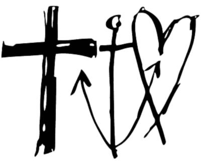'Tro, håb og kærlighed' med et meget stort og misvisende kristent kors