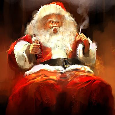 Skæv, fuld julemand