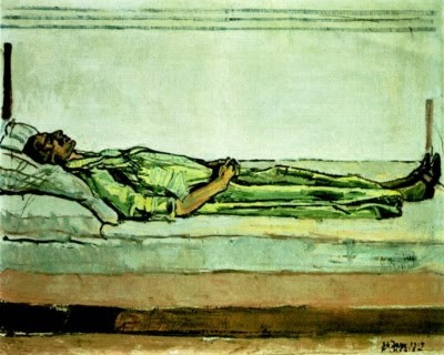 The Dead Valentine Godé-Darel by Ferdinand Hodler, 1915