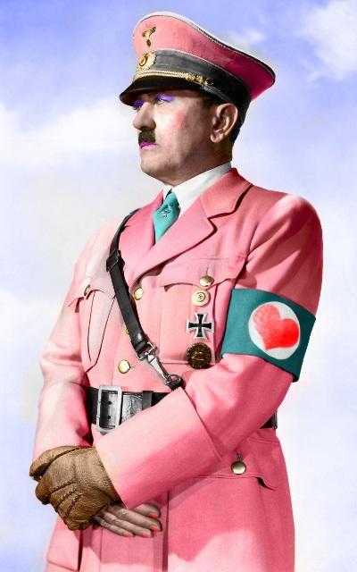 Pink Adolf Hitler karikatur