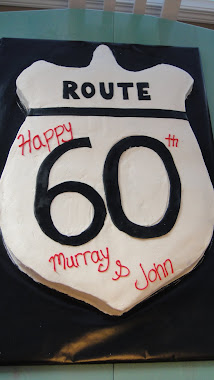 60th Bday slab cake