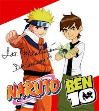 Naruto y Ben 10 - Personificados por Isabel Martiñón, mi amiga