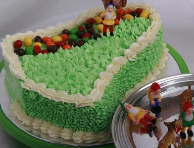 Tutup separuh bagian atasnya dengan butter cream warna hijau ...