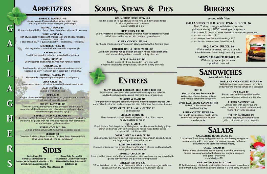 tri fold menu design