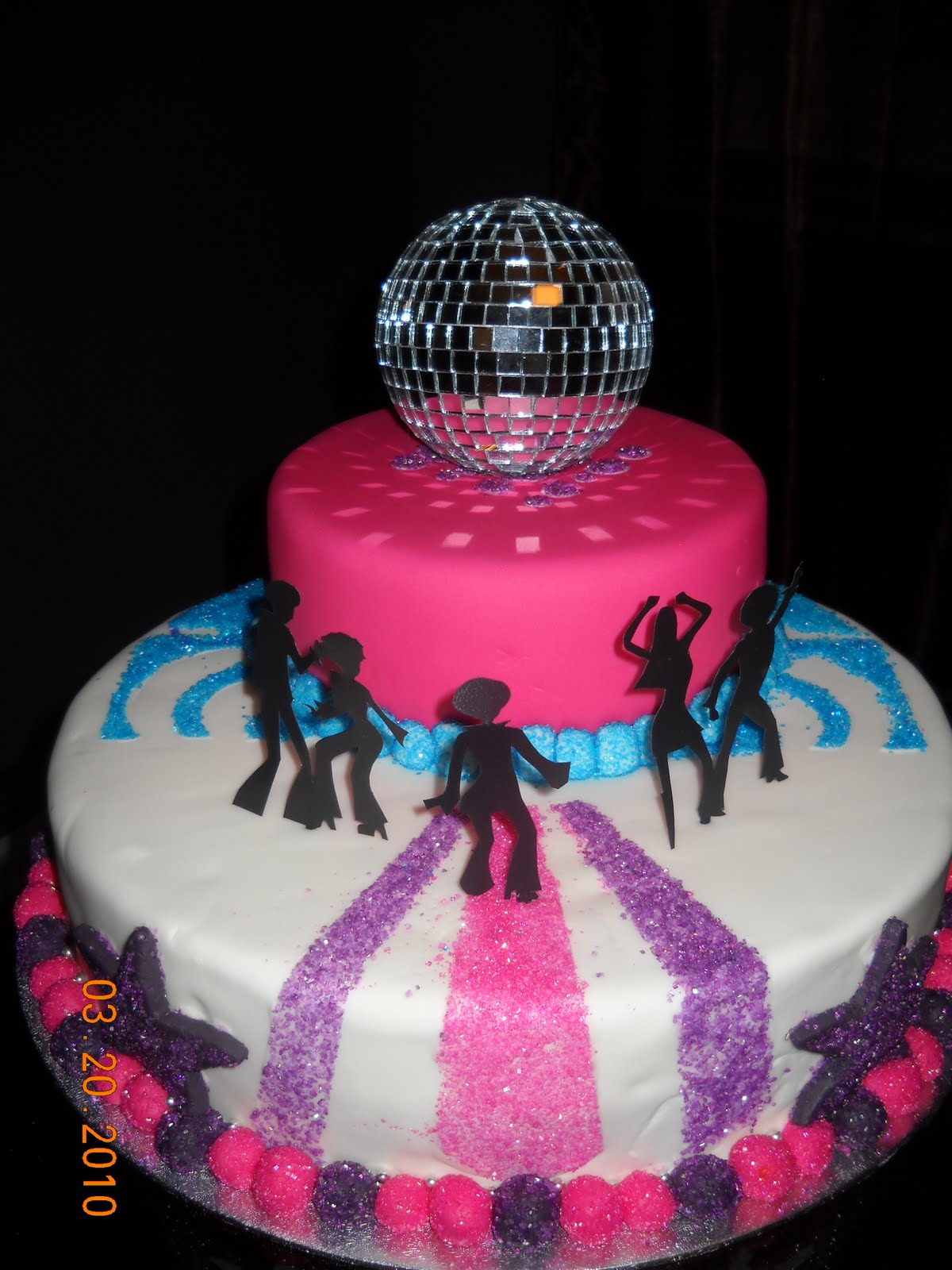 Cake Decorating Disco Ball : Jocelyn s Wedding Cakes and More....: disco cake