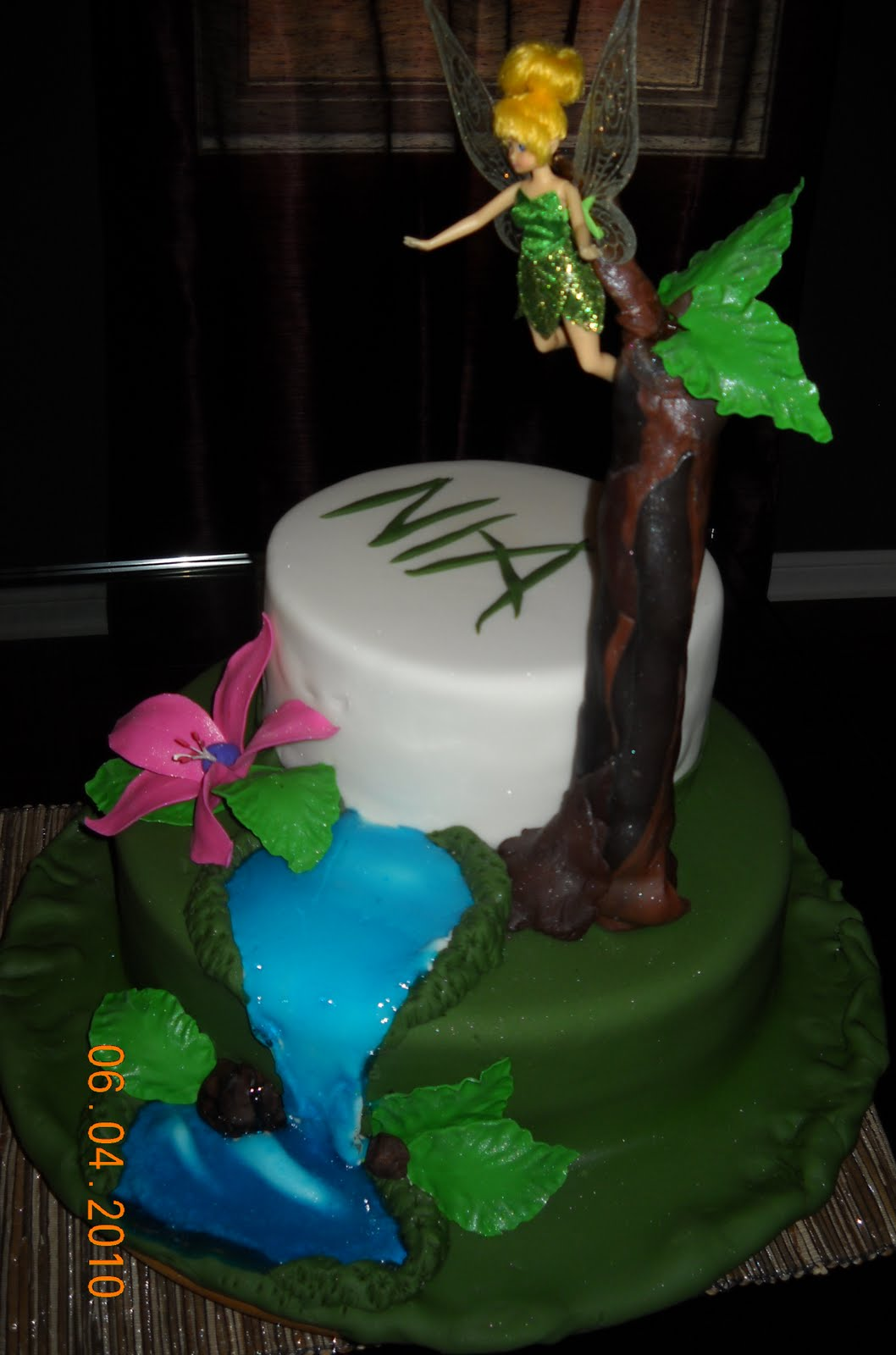 Jocelyns Wedding Cakes And More Tinkerbell Cake For Nias 1st