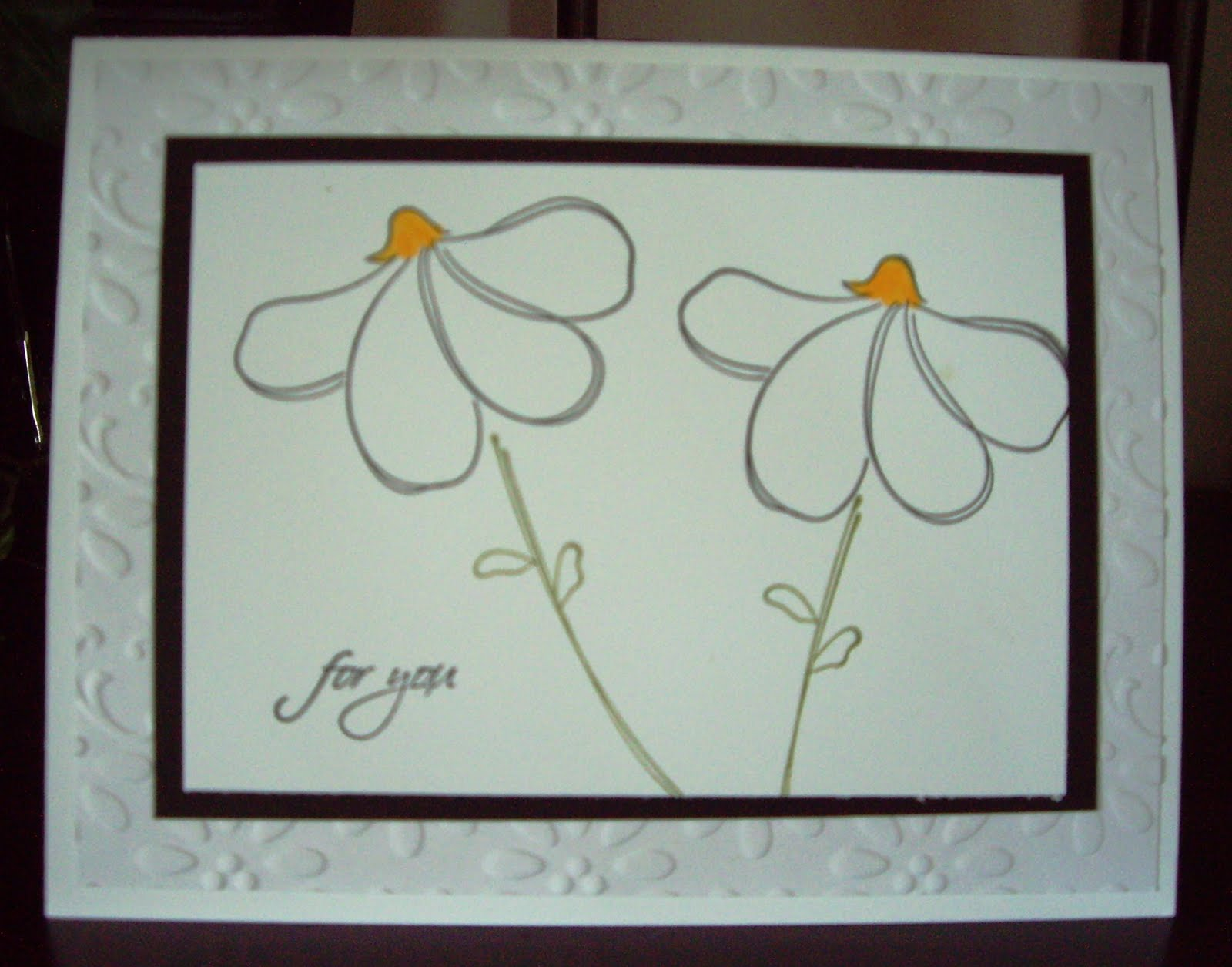 Simple Daisy Outline I stamped the simple daisy