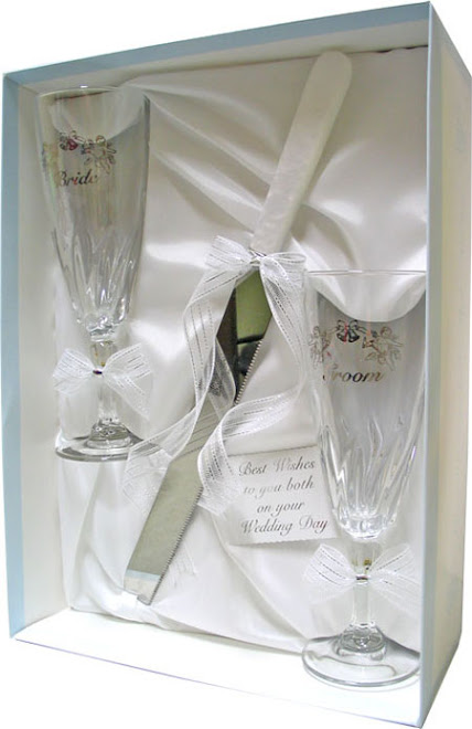 KNIFE & GLASS SEY BRIDE & GROOM