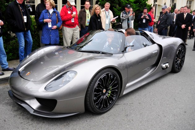 the 918 Spyder abstraction -- will pave the way for the abutting Porsche