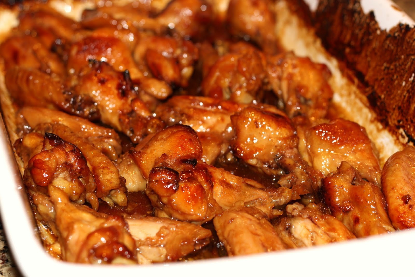 how to make sticky chicken wings in the oven