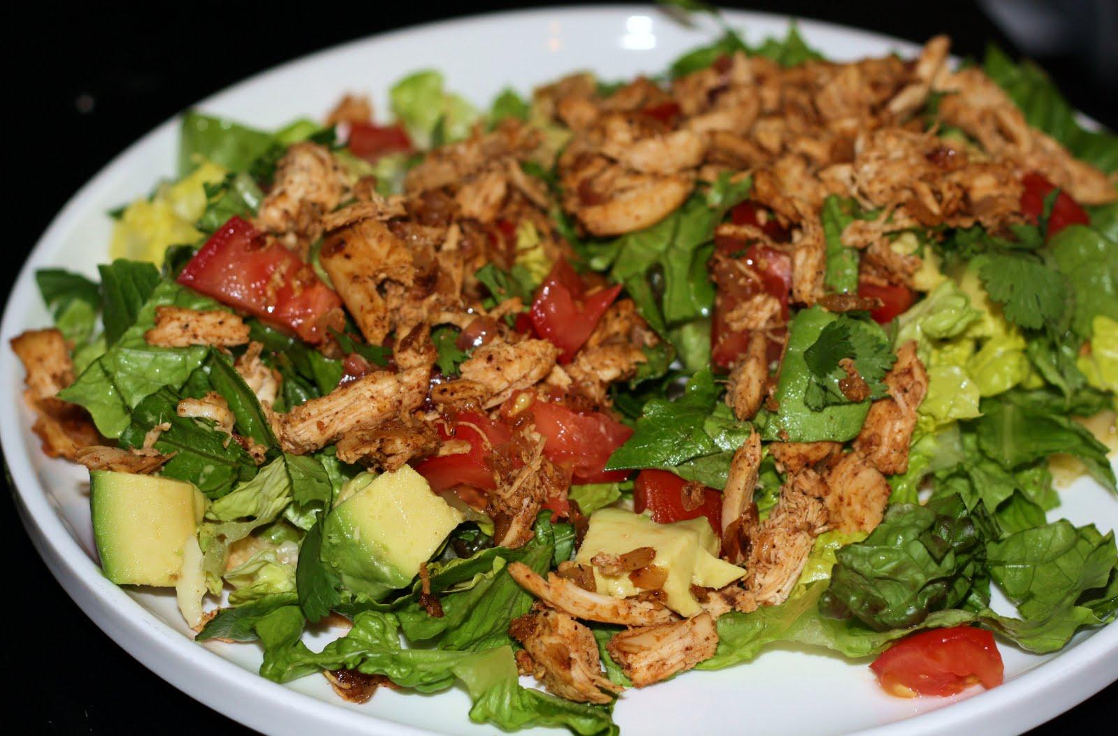 Chicken Tostada Recipe Chicken tostada salad.