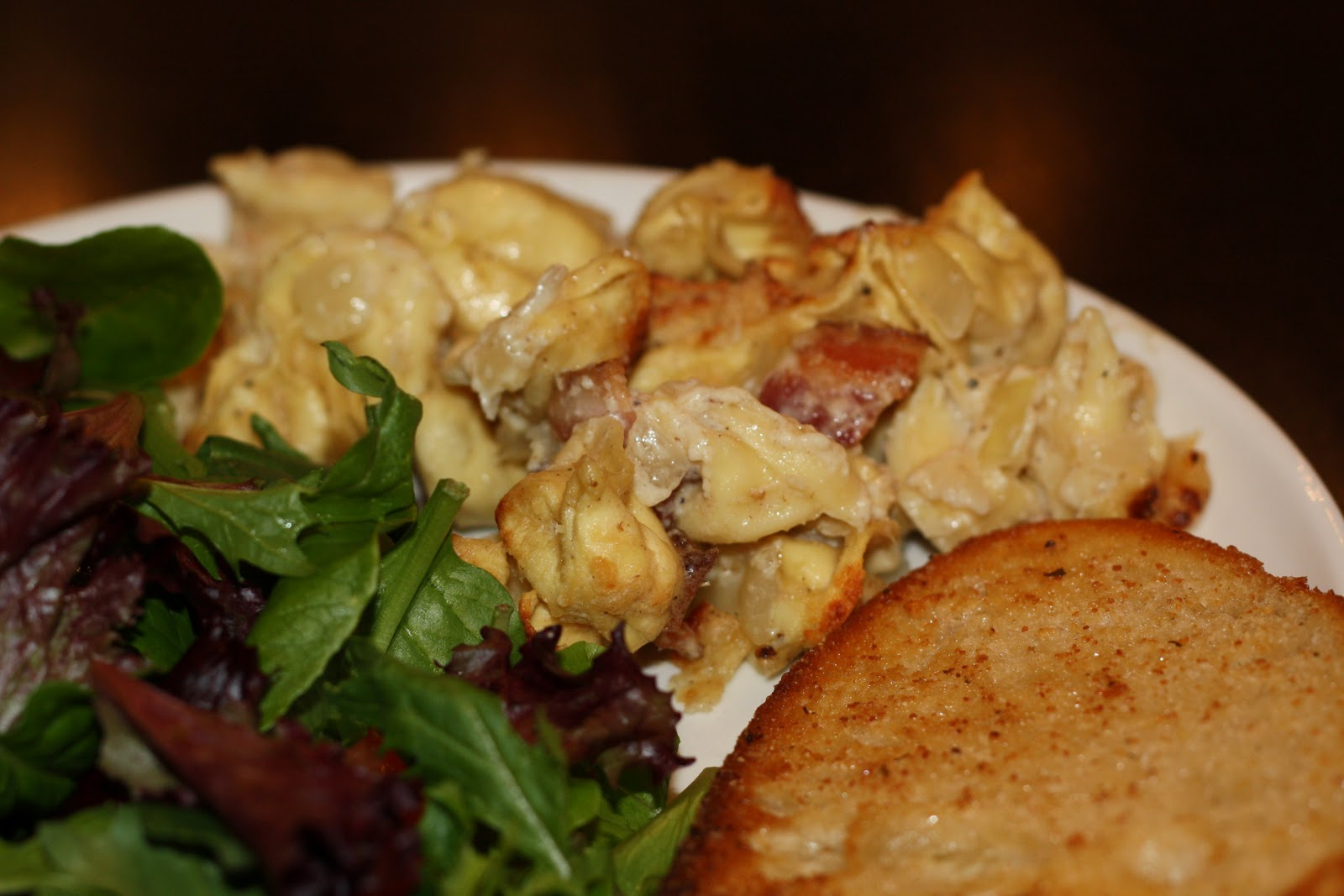 what's for dinner?: baked tortellini with bacon... 35 minutes