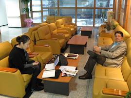 Zen like waiting area of Proton Center