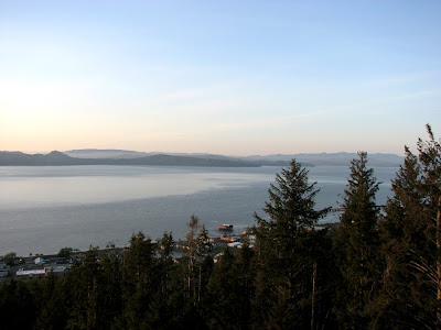 A view onto the Columbia River from the Astoria Column