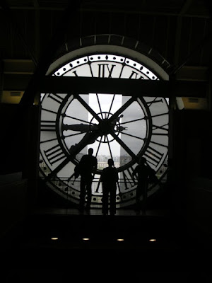 Behind the Big Clock, Musee d'Orsay, Paris