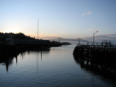 Peaceful Evening View of the Columbia River, Astoria, Oregon
