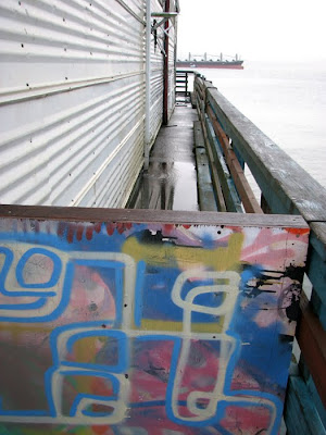 Painted Gate at Pier 11, Astoria, Oregon