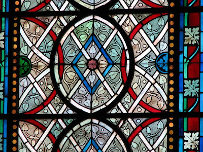 Staned Glass in St. Denis Basilica near Paris