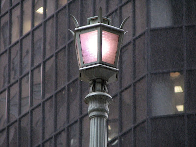 A Street Lamp in the Rain near Grand Central Station, New York (NYC)