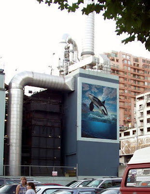 Leaping Orca Mural, Seattle, Washington