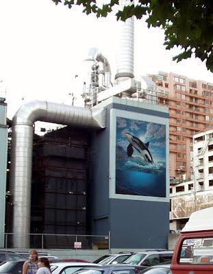 Leaping Orca Mural, Seattle, Washington