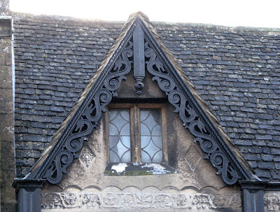 Dragons carved on a Dormer, Banbury England