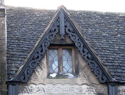 Dragons carved on a Dormer, Banbury England