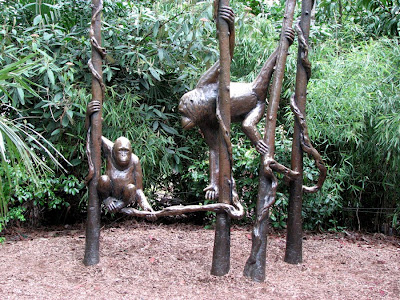 Orangutan sculpture, Woodland Park Zoo, Seattle, Washington