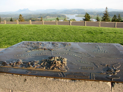 Bronze Relief Map at the Astoria Column
