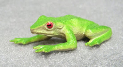 Plastic red-eyed tree frog