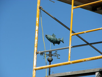 Salmon weather vane, Astoria, Oregon