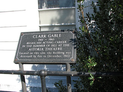 Clark Gable Plaque, Astoria, Oregon