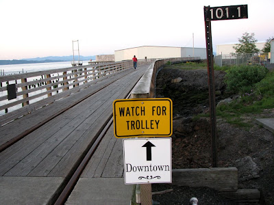 River Walk and Trolley Tracks, Astoria, Oregon
