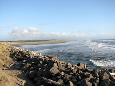 Oregon Coast at Fort Stevens - South Jetty