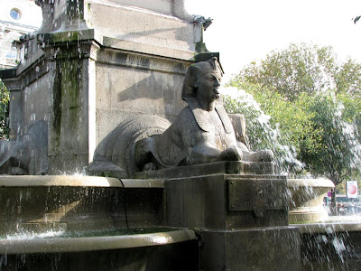 Fountain with Sphinxes in the Place du Chatelet, Paris