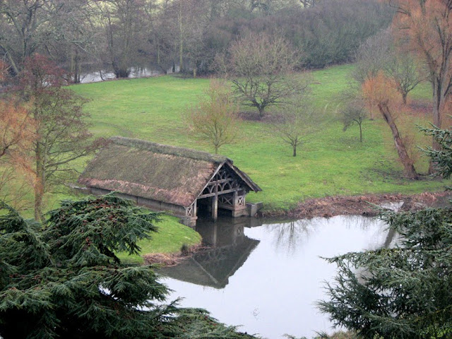 Warwick Castle Boathouse - River Avon, Warwickshire, England