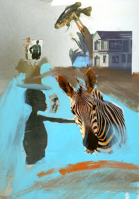 Collage with Zebra by Sheryl Todd