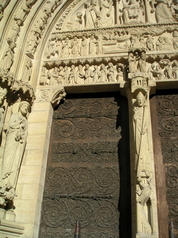 Ornate Doors of Notre Dame Cathedral, Paris
