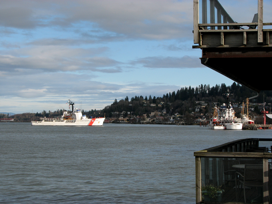 Coast Guard Ship 630 Coming in to Dock