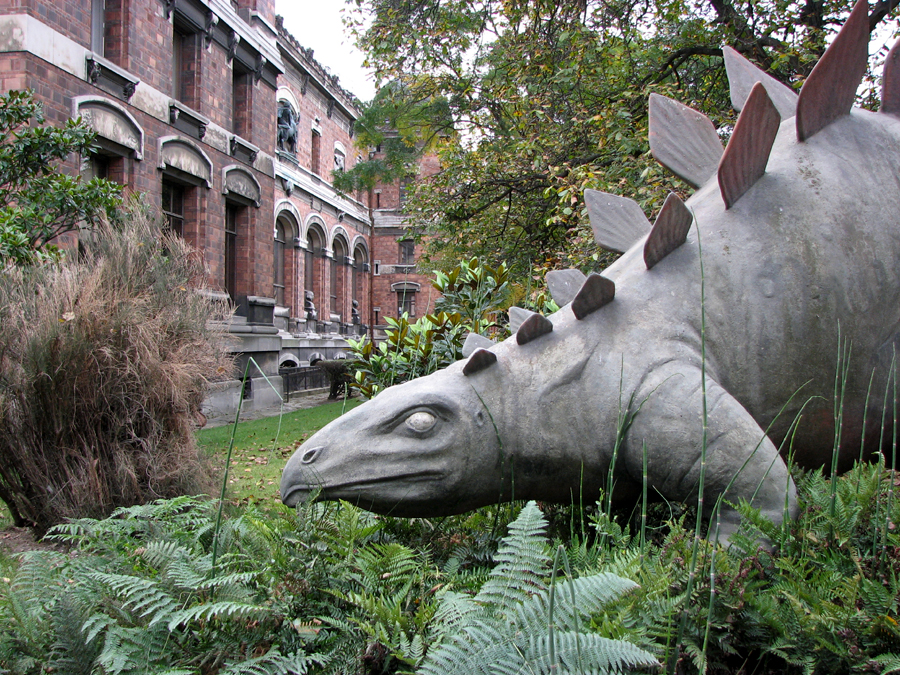 Animal art along the way a stegosaurus in paris for Jardin pronunciation