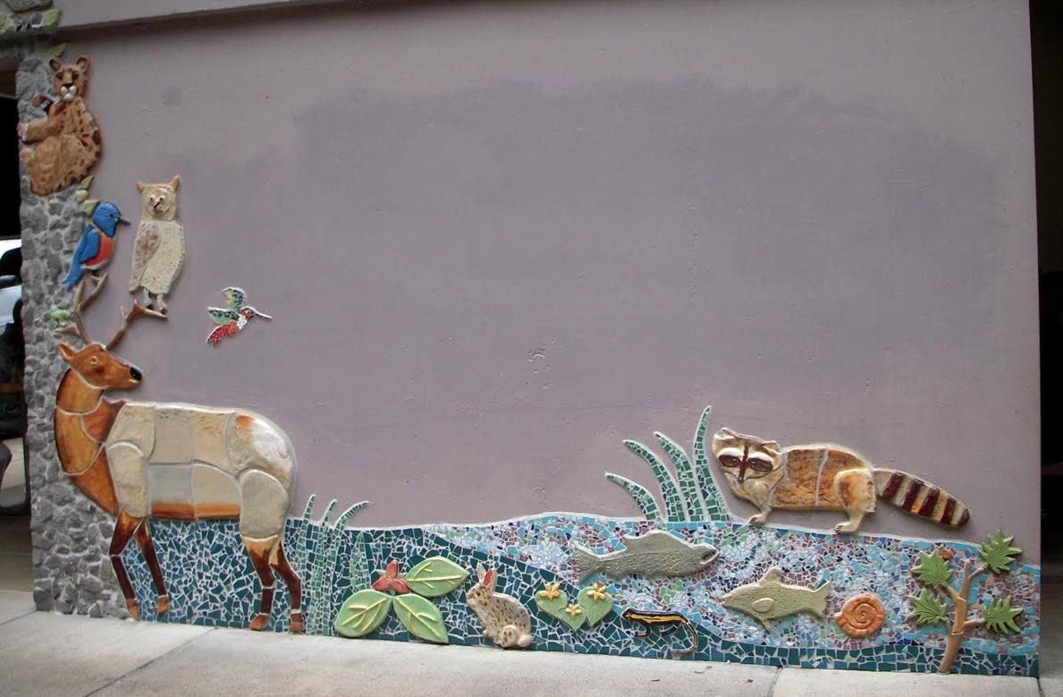 Wild Animal Tile Mosaic