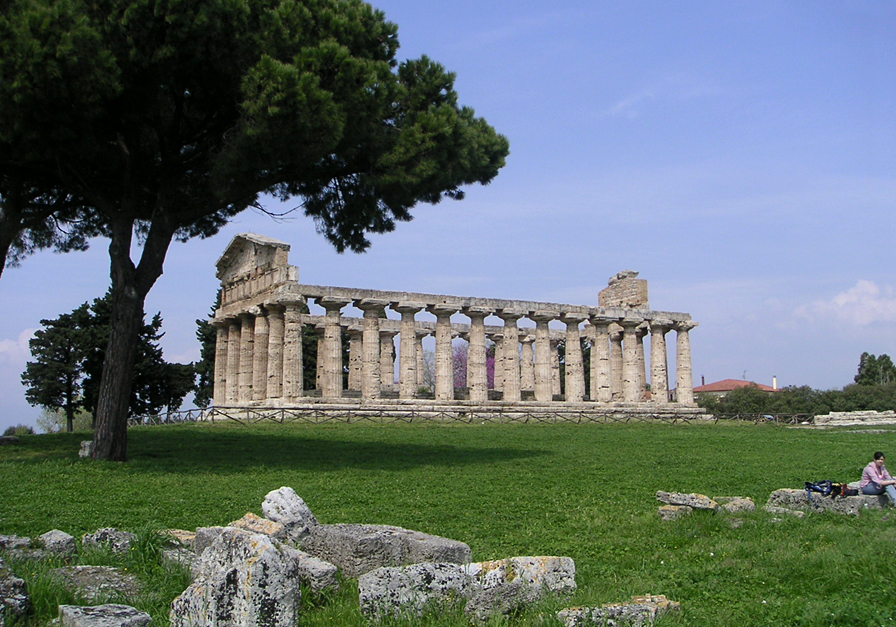 Greek Ruins at Paestum, Italy