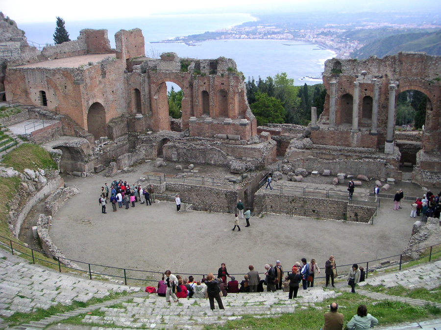 Ruins of the Greek Theater, Taormina, Sicily