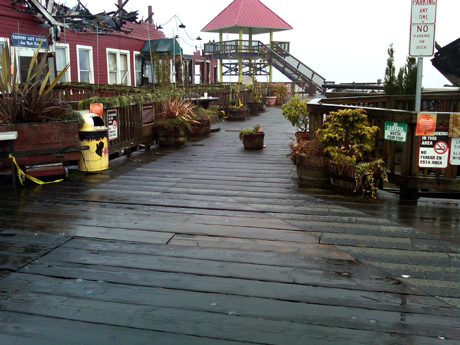 Cannery Pier after the Fire